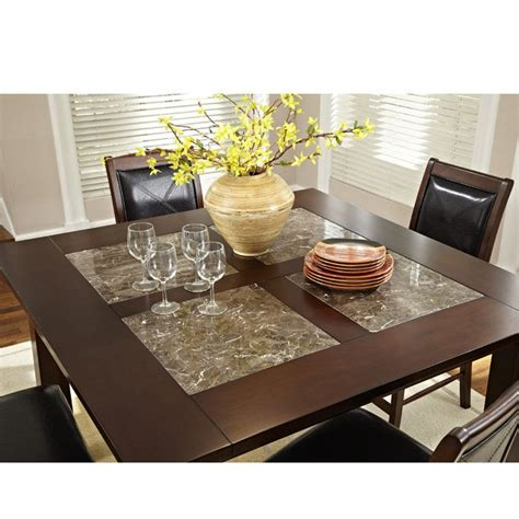Granite Inlay Dining Table 560 Granita 54 Quot Counter Height Dining Table With Granite Inlays Hobbiton