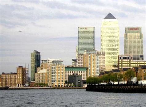 thames river cruise docklands london docklands canary wharf from the river thames
