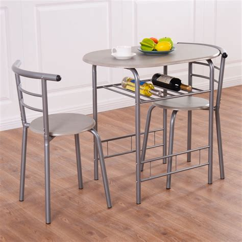 Small Bistro Tables For Kitchen 3pcs Bistro Dining Set Small Kitchen Indoor Outdoor Table Chairs Patio Furniture