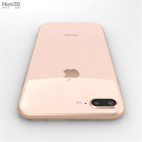 apple iphone 8 plus gold 3d model hum3d
