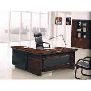 bureau de direction avec retour et caisson en bois mdf