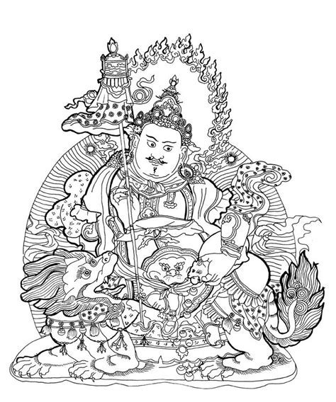 Coloring Pages For Adults Buddhist | buddhist paintings coloring book asian art museum of san