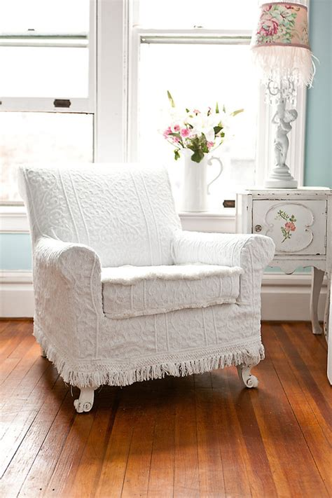 shabby chic chair slipcovers antique chair white vintage matelasse by vintagechicfurniture