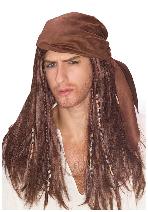 wigs world of wigs costume wigs styles men 70s shag brown caribbean pirate wig