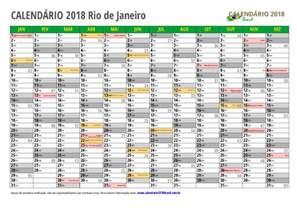 Calendario 2018 Janeiro Calend 193 2018 Para Imprimir Feriados