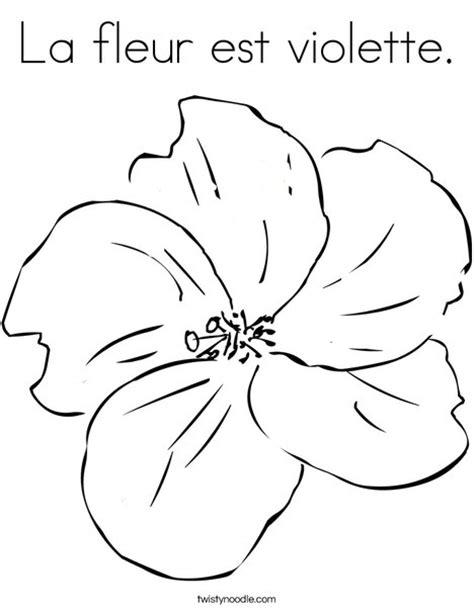la fleur est violette coloring page twisty noodle