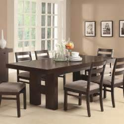 Dining Room Furnitures Casual Contemporary Dark Wood Dining Table Amp Chairs Dining