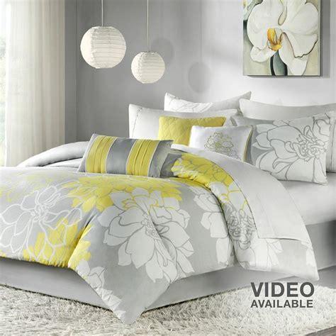 yellow gray comforter gray and yellow comforter home sweet home pinterest