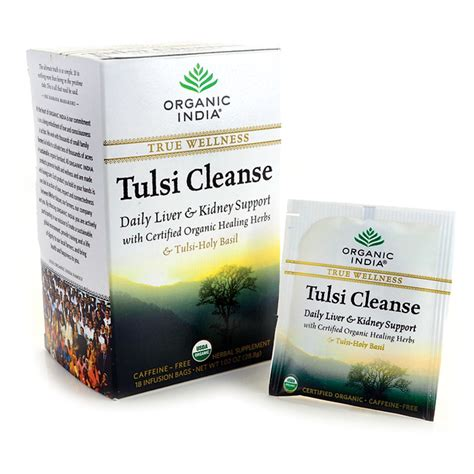 Tulsi Detox by Organic India True Wellness Tulsi Cleanse Tea 18 Bag S