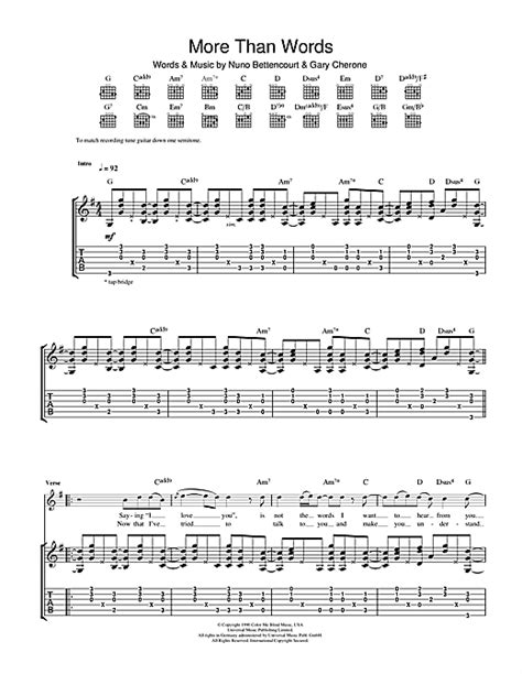 tutorial guitar more than words more than words guitar tab by extreme guitar tab 104053
