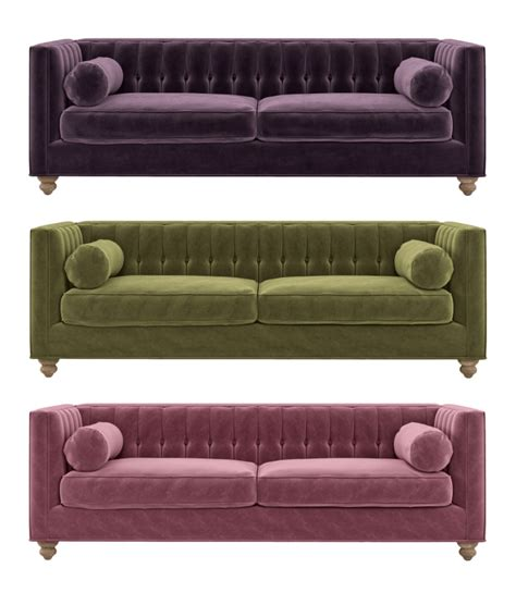 velvet settee sofas trend scout the best velvet sofas we are scout