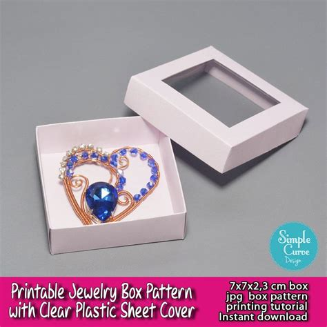 free templates for jewellery boxes printable jewelry box pattern clear plastic sheet