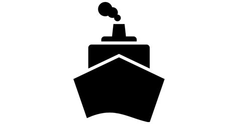 big boat icon boat from front view free transport icons