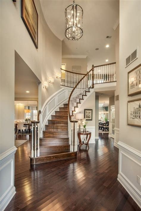traditional entryway  wainscoting high ceiling