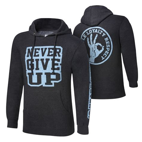 Hoodie Give Up 1 cena quot never give up quot black pullover hoodie sweatshirt pro wiki divas