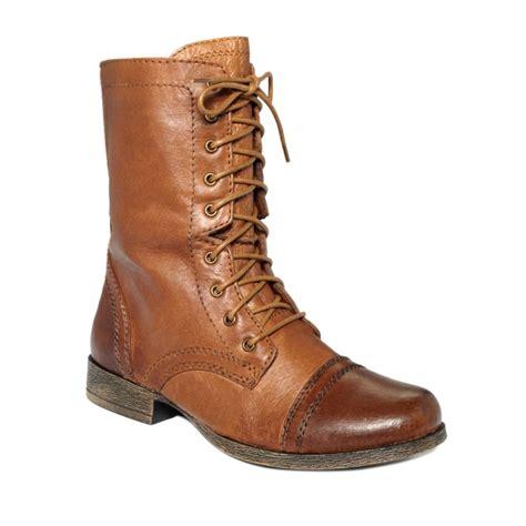 steve madden troopa mens boots steve madden troopa boots in brown cognac lyst