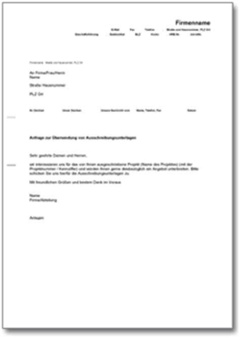 Muster Angebot Ausschreibung 6 Angebots Anschreiben Invitation Templated