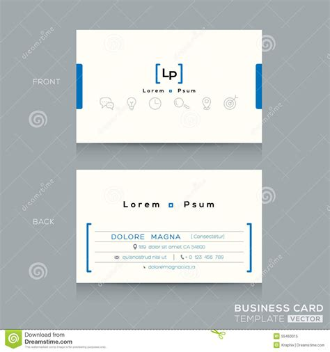 business card clean template design illustrator minimal clean design business card template stock vector