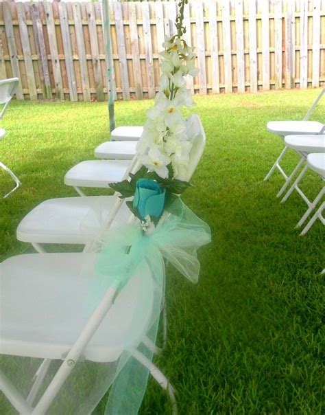 decorating for a summer wedding folding chairs wedding