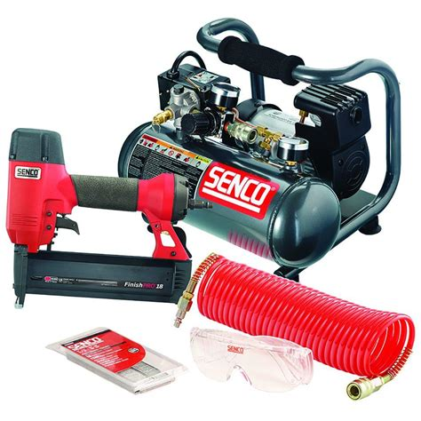 senco finishpro kit 18 brad nailer and pc1010 compressor pc0947 the home depot