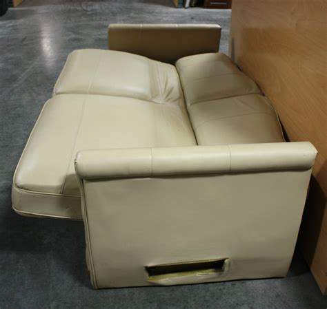 rv furniture used rv ultra leather knife sleeper sofa