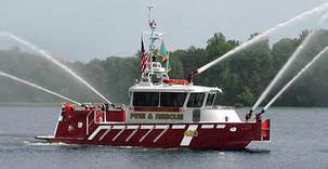 metalcraft fire boat high speed aluminum fireboats manufactured by metalcraft