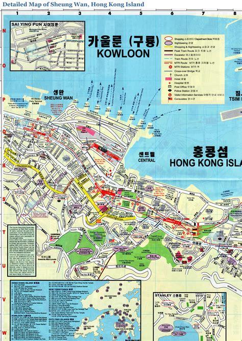 printable street map of hong kong map of sheung wan hong kong island