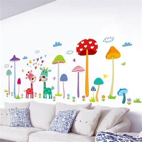 forest mushroom deer animals home wall art mural decor