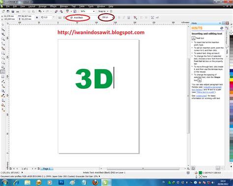 membuat brosur menggunakan corel draw x4 membuat brosur di coreldraw x5 membuat efek teks 3d dengan