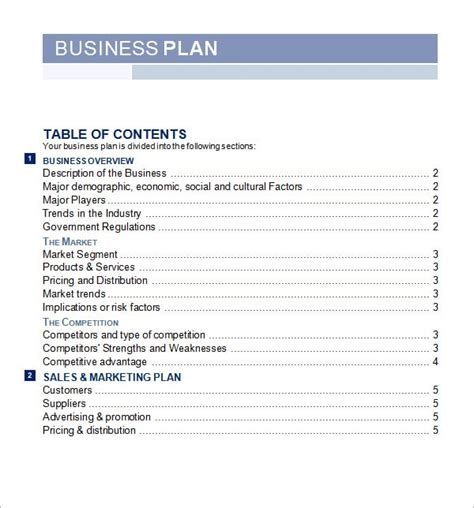 5 Free Business Plan Templates Excel Pdf Formats Business Strategy Template Word
