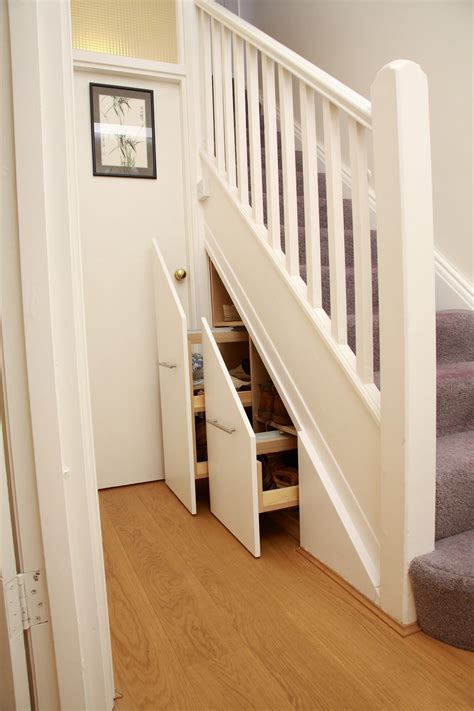 understairs shoe storage painted stairs storage solution joat