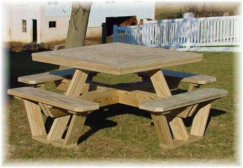 square picnic table plans  woodideas
