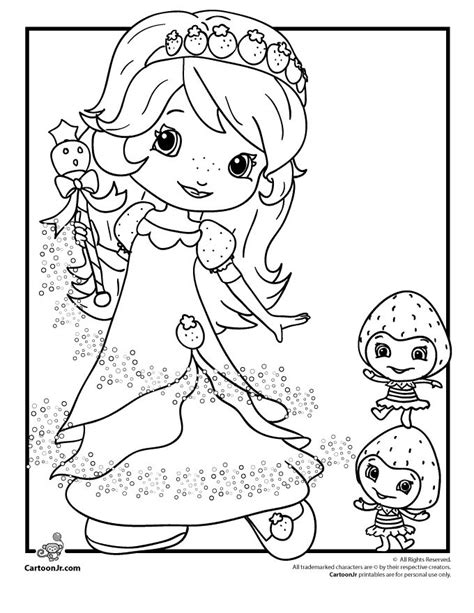 strawberry shortcake coloring pages princess 141 best images about strawberry shortcake coloring pages