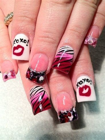 acrylic nail designs for valentines day s day acrylic nails nails s day