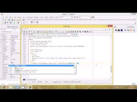 tutorial login delphi tutorial delphi 7 cara membuat form login part 2 youtube