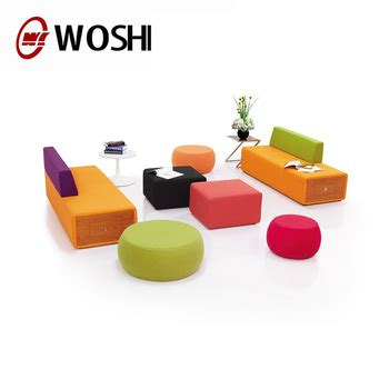 Sofa Wos fashion fabric modern lobby sofa design breakout color