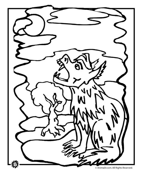 halloween wolf coloring pages scary wolf colouring pages page 2 az coloring pages