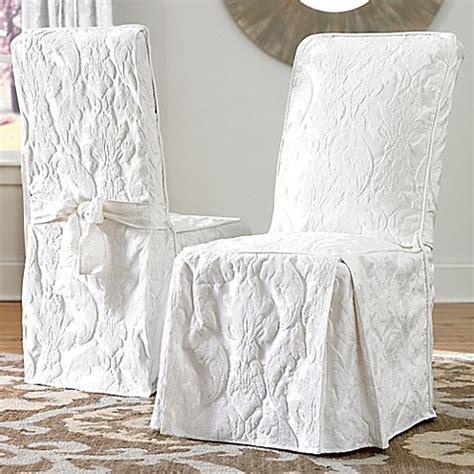 Sure Fit Dining Chair Cover Buy Sure Fit 174 Matelasse Damask One Arm Dining