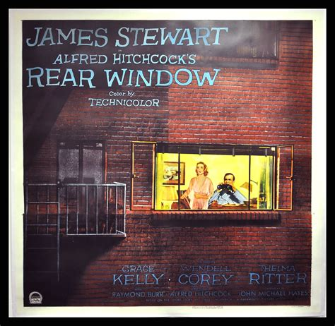 bedroom window movie posters at movie poster warehouse rear window cinemasterpieces alfred hitchcock original