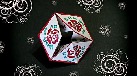how to make endless card diy flexagon endless card infinite card origami