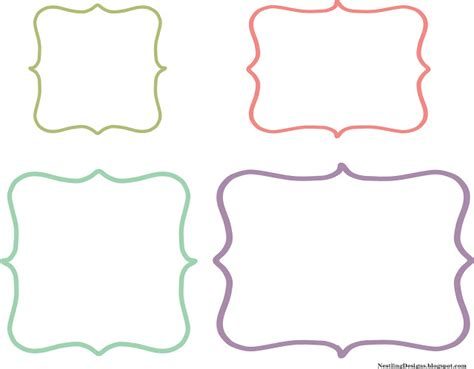 Template To Print Labels nestling friday freebie diy chalkboard labels