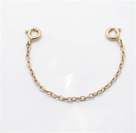 oval cable chain necklace extender pendant charm real 14k