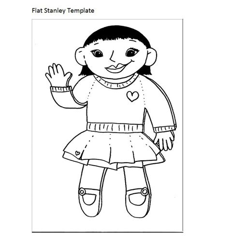 free printable flat stanley template 37 flat stanley templates letter exles template lab
