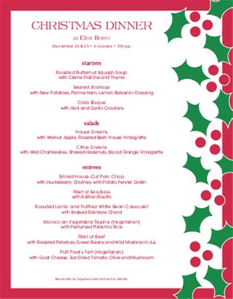 christmas eve dinner christmas menus