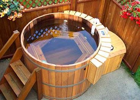 wood hot tub natural cedar hot tubs for outdoors digsdigs
