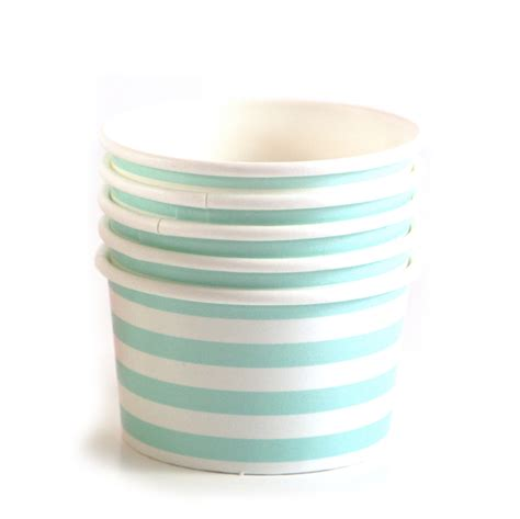 Lolla Cup Pink blue and white stripe paper cups modern lola
