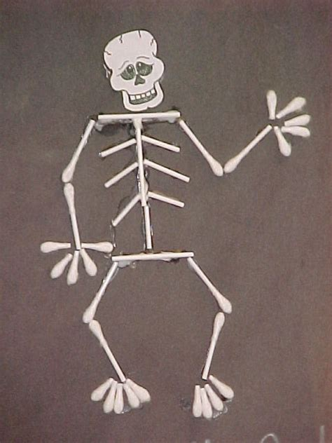 q tip skeleton craft template 34 best q tips images on