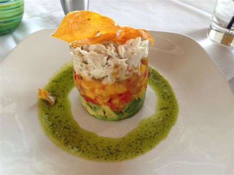 crab and avocado stack crab avocado mango stack picture of chart house