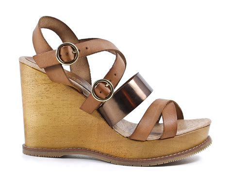 Wedges Js42 By Jenn Shoes andre assous bronze brown buckle wedge sandal