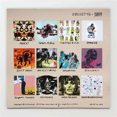 Artists Calendars Fresh From The Dairy Society6 Artist Calendar 2014